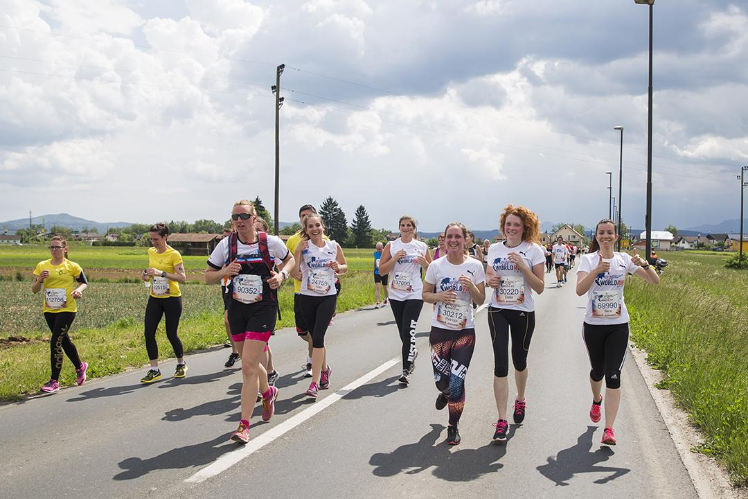 Participants compete during the Wings for Life World Run in Ljubljana, Slovenia on May 8, 2016. // Bor Dobrin for Wings for Life World Run // P-20160509-02398 // Usage for editorial use only // Please go to www.redbullcontentpool.com for further information. //