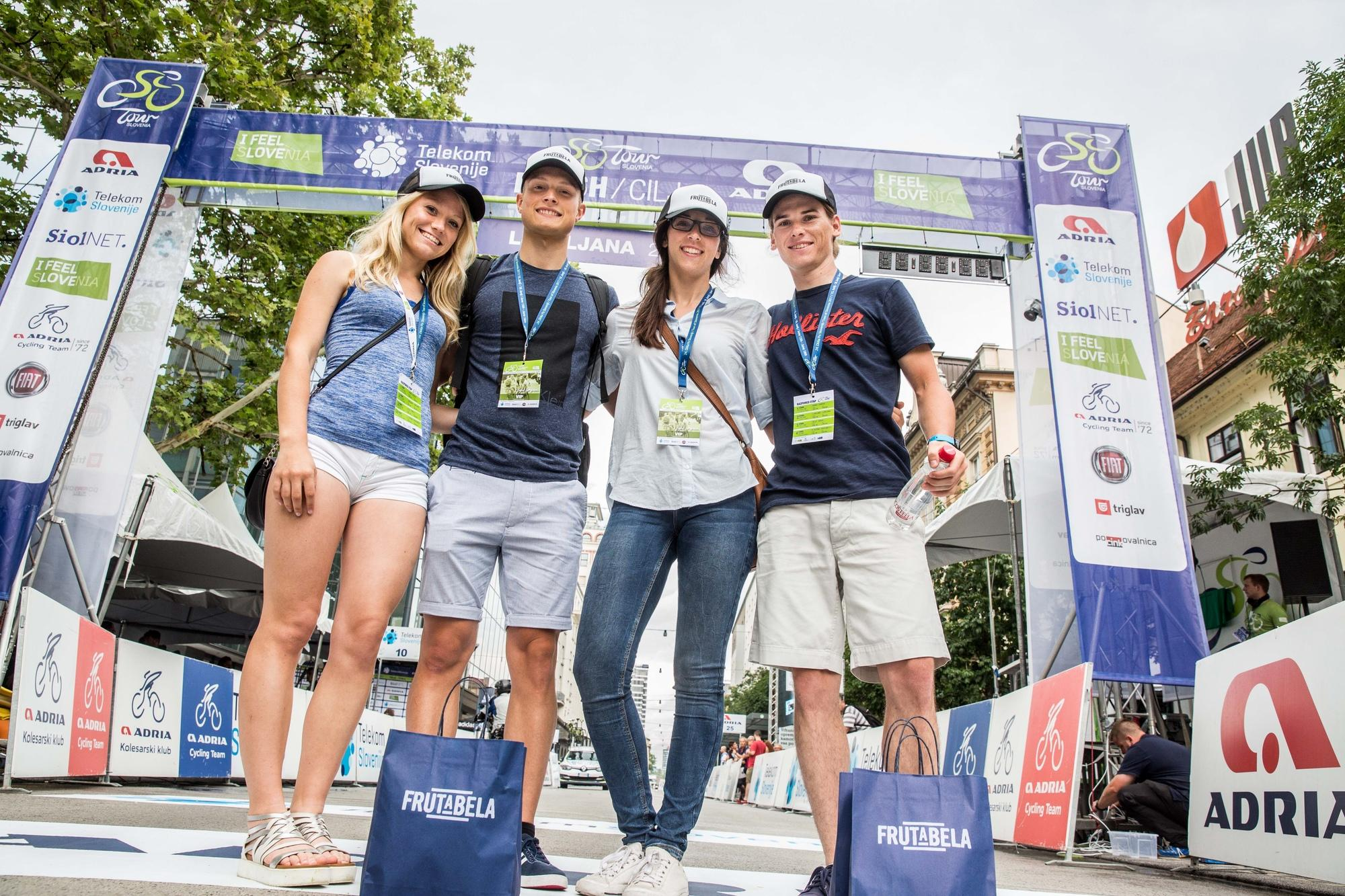 Frutabela team at finish line after the Stage 2 of 24th Tour of Slovenia 2017 / Tour de Slovenie from Ljubljana to Ljubljana (169,9 km) cycling race on June 16, 2017 in Slovenia. Photo by Vid Ponikvar / Sportida