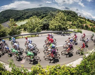 Peloton during Stage 1 of 23rd Tour of Slovenia 2016 / Tour de Slovenie from Ljubljana to Koper/Capodistria (177,8 km) cycling race on June 16, 2016 in Slovenia. Photo by Vid Ponikvar / Sportida