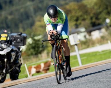 Jan Tratnik of Slovenia during the Men Elite Individual Time Trial a 52.5km race from Rattenberg to Innsbruck 582m at the 91st UCI Road World Championships 2018 / ITT / RWC / on September 26, 2018 in Innsbruck , Austria.Photo by Vid Ponikvar / Sportida